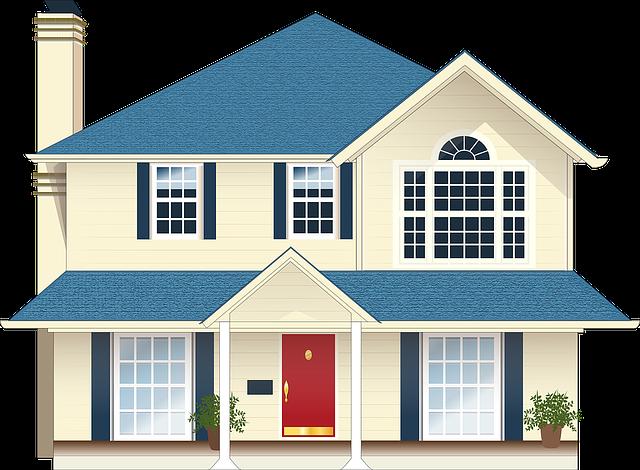 velký dům ilustrace