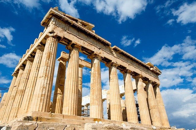 řecká zřícenina